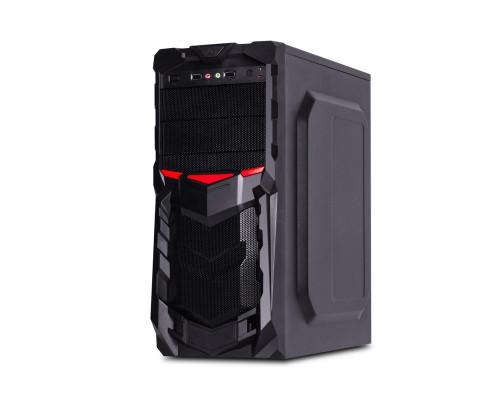 Корпус Delux, DLC-DW701PS, Panel USB2.0x2, audio, mic, Б, П 400W, mATX, ATX, 180x400x400 mm, Черный