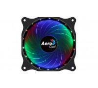 Вентилятор AeroCool, Cosmo 12, FRGB, 120мм, 1000±10%об.мин, 26.2CFM, 23.9dBA, Molex, 120х120х25мм, Ч
