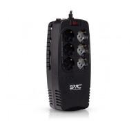 Стабилизатор SVC, AVR-1200-U, Мощность 1200ВА, 600Вт, Диапазон работы AVR: 176-276В, Тип выходных раз