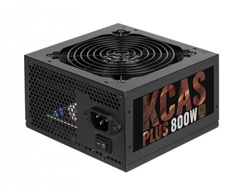 Блок питания AeroCool, KCAS PLUS 800W, 800 W, 1 Fan (120 мм), 20+4 pin, PCI-E x 4, SATA x 7, IDE x 4