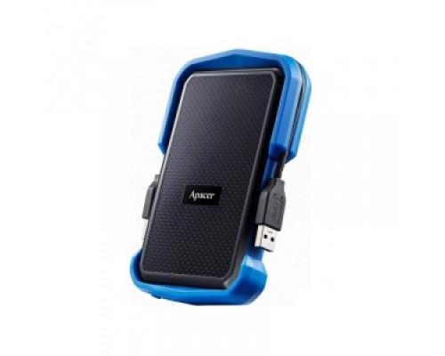 Внешний жесткий диск Apacer AC631 Shockproof, AP1TBAC631U-1, 1 Tb, USB 3.1, Черный