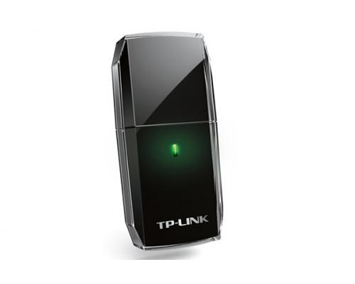 Сетевая карта TP-Link, Archer T2U, USB 2.0, Wi-Fi, 600 Мбит, с, частота 2.4, 5 ГГц, WEP, WPA, WPA2