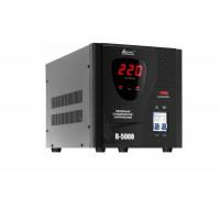 Стабилизатор SVC, R-5000,5000Вт, Диапазон работы AVR: 140-260В, Выходное напряжение: 220В +, -7%, Зад