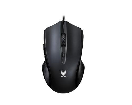 Мышь Rapoo, V20S, Игровая, Оптическая, Проводная, 3000 dpi, Длина кабеля 1,8 метра, Чёрный