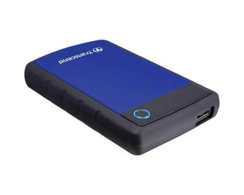 Внешний жесткий диск Transcend, StoreJet TS1TSJ25H3B, 1 Tb, USB 3.0, Синий