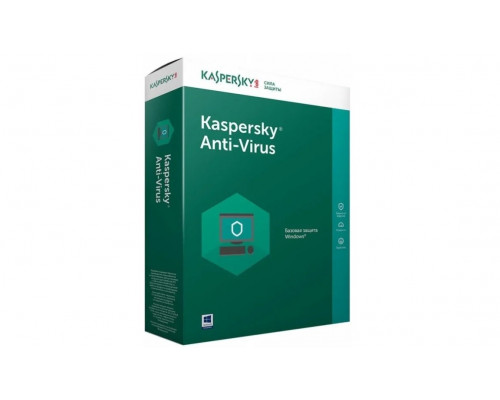 Программа- Антивирус Kaspersky, Anti-Virus 2021 Box, 2-Desktop 1 year Renewal
