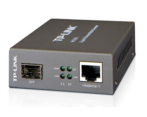 Медиаконвертер TP-Link, MC220L, Оптоволоконный порт, RJ45, 1 порт 1000 Мбит, с,1 порт 1000Base-FX, да