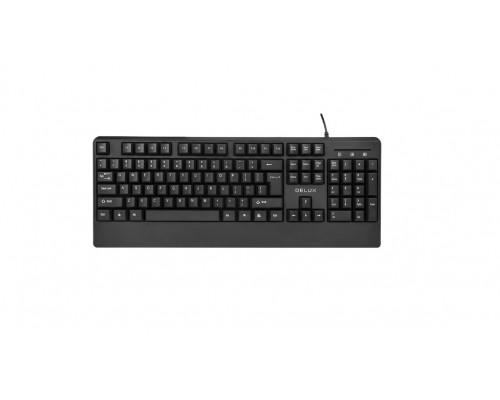 Клавиатура Delux, DLK-670OUB, USB, Анг, Рус, Каз, Черный