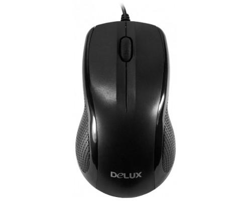 Мышь Delux, DLM-388OUB, 800 dpi, USB, Оптическая, Черный