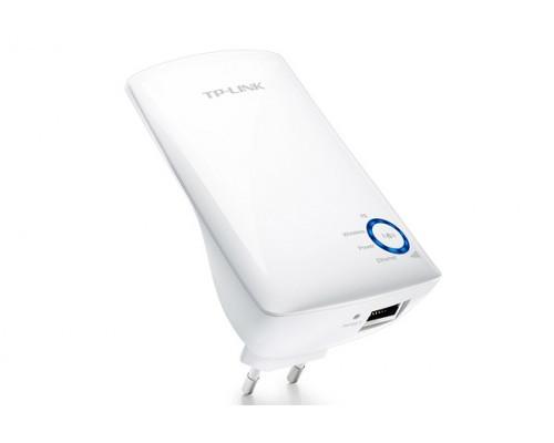 Точка доступа TP-Link, TL-WA850RE, 300 Мбит, с, Ethernet RJ45, Wi-Fi, частота 2.4ГГц, WEP, WPA, WPA2,