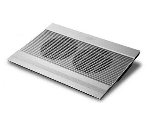 "Охлаждающая подставка для ноутбука, Deepcool, N8 Silver DP-N24N-N8SR, 17"", Вентилятор 2*14см, 1000±1"