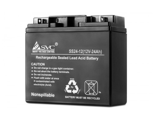 Аккумулятор для ИБП UPS 12V, 24Ah, NP 24-12, размер в mm.: 170*120*157