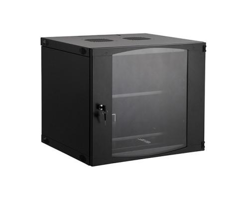 Шкаф настенный, SHIP, EW серия, EW5412.100, 19'' 12U, 540*450*593 мм, Ш*Г*В, IP20, Чёрный