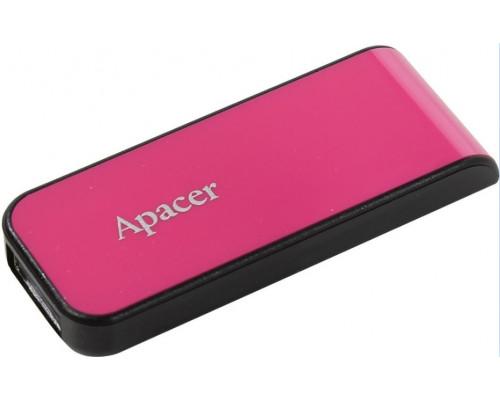 Уст-во хранения данных Apacer, AH334, 32Gb, USB 2.0, AP32GAH334P-1, Розовый