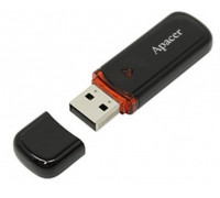 Уст-во хранения данных Apacer, AH333, 64Gb, USB 2.0, AP64GAH333B-1, Черный