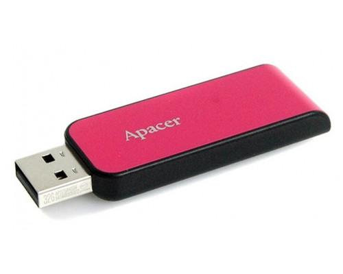 Уст-во хранения данных Apacer, AH334, 64Gb, USB 2.0, AP64GAH334P-1, Розовый