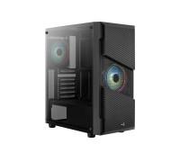 Корпус AeroCool MENACE SATURN RGB, ATX, Micro ATX, USB 1*3.0, 2*2.0, HD-Audio+Mic,  Кулер 12см, Высота