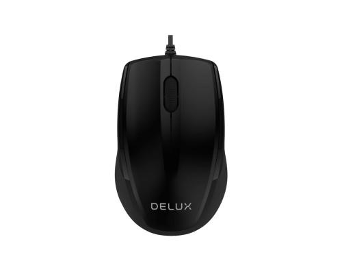 Мышь Delux, DLM-321OUB, 1000 dpi, USB, Оптическая, Черный