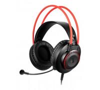 Наушники Bloody, G200S, USB, Мониторные, 2 м, Микрофон фиксированный, Черно-красный