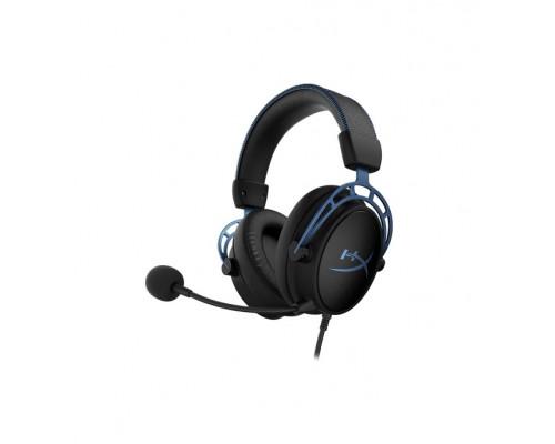 Наушники Kingston HyperX Cloud Alpha S HX-HSCAS-BL/WW, Игровая гарнитура, Микрофон съёмный гибкий, Д
