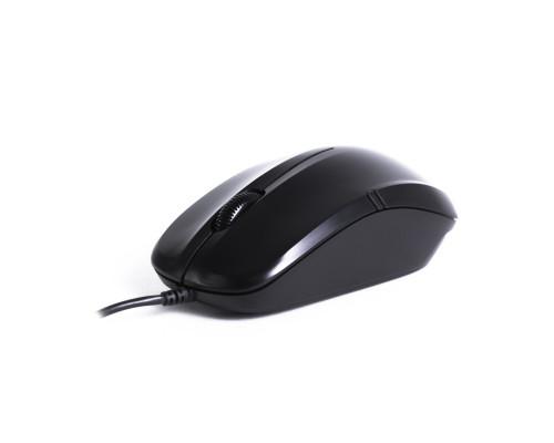 Мышь Delux, DLM-136OUB, Оптическая, USB, 1000dpi, Длина провода 1,6 м, Чёрная