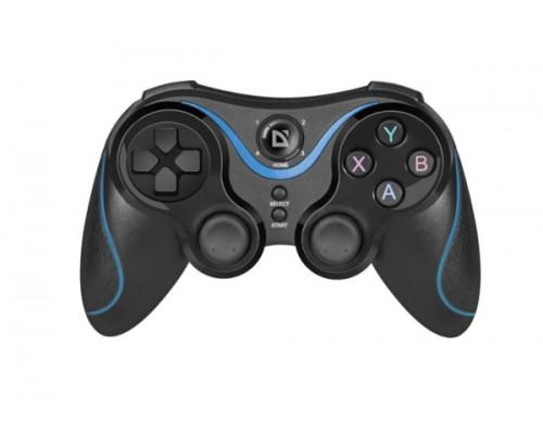 Джойстик Defender Blast, Беспроводной Bluetooth, 12 кнопок, Черно-Синий