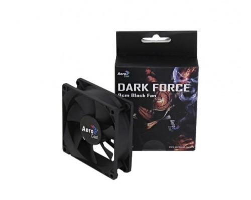 Вентилятор AeroCool, Force 8 Black Molex + 3P, 80mm, 1500 об/мин, 1,68 Вт, Чёрный