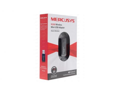 Сетевая карта Mercusys, MW300UM(EU), 300Mbps Mini Wireless N USB adapter, 2T2R, 2.4GHz, 802.11g/b/n,
