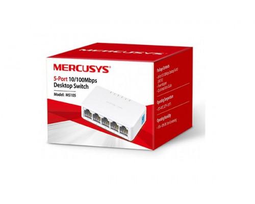 Коммутатор Mercusys, MS105(EU), 5 портов 10, 100 Мбит, с (RJ45) с автосогласованием и поддержкой Auto