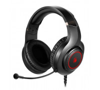 Наушники Bloody, G220S, USB, Мониторные, 2 м, Микрофон фиксированный, Черно-красный