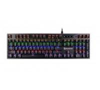 Клавиатура A4 Tech, Bloody, B760, USB, Механическая, Анг, Рус, Каз, LED Черный