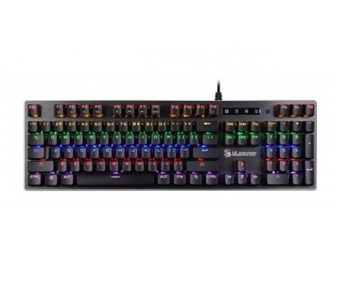 Клавиатура A4 Tech, Bloody, B760, USB, Механическая, Анг/Рус/Каз, LED Черный