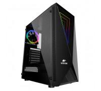 Корпус Wintek Space JX188-5 TG, ATX, ITX, USB 1*3.0, 2*2.0, Без БП, HD-Audio+Mic, 0,5 mm, 1*ARGB fan + c