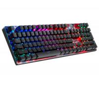 Клавиатура A4 Tech, Bloody, B810R battlefield, RGB-LED, USB, механическая, Анг, Рус, Каз, LED Черный