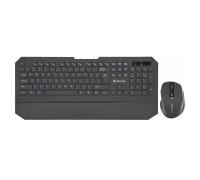 Клавиатура + Мышь Defender, Berkeley C-925, USB, Беспроводная 2.4G, Анг/Рус/Каз, Оптическая Мышь, Че