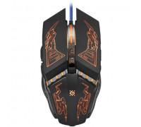 Мышь Defender, Halo Z GM-430L, 3200 dpi, USB, Оптическая, черный-красный
