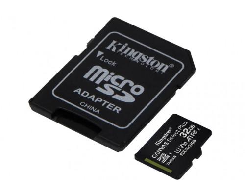 Флеш-карта Kingston, Micro SDHC Class10, 32 Gb, SDCS2, 32GB + адаптер
