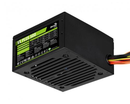 Блок питания AeroCool, VX500 PLUS, 500 W, 1 Fan (120 мм), 20+4 pin, PCI-E x 1, SATA x 3, IDE x 3