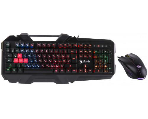 Клавиатура + Мышь A-4 Tech Bloody B2500 USB Bloody Keyboard+Bloody N81 Mouse <LED-подсветка клавиш,