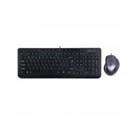 Клавиатура + Мышь Delux, DLD-6220OUB, USB, Анг, Рус, Каз, Оптическая Мышь, Черный