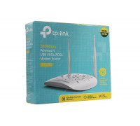 Модем TP-Link, TD-W9970, 300 Мбит/с, Wireless N VDSL2/ADSL2+ Modem Router, Broadcom, 802.11n/g/b, 30