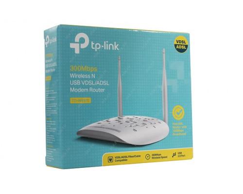 Модем TP-Link, TD-W9970, 300 Мбит, с, Wireless N VDSL2, ADSL2+ Modem Router, Broadcom, 802.11n, g, b, 30