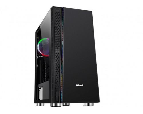 Корпус Wintek Dream K209 TG, ATX, Micro ATX, USB 1*3.0, 2*2.0, Без БП, HD-Audio+Mic, 0,55 mm, RGB strip