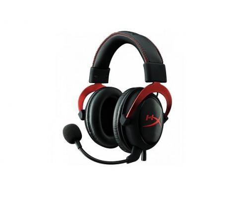 Наушники Kingston HyperX Cloud II KHX-HSCP-GM, Игровая гарнитура, Микрофон поворотный гибкий, Динами