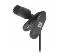 Микрофон Defender, MIC-109, на прищепке, 1,8 м, Черный