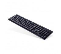 Клавиатура Delux, DLK-150GB, Мультимедийная, Ультра-тонкая, Анг/Рус/Каз, Беспроводная, Черный