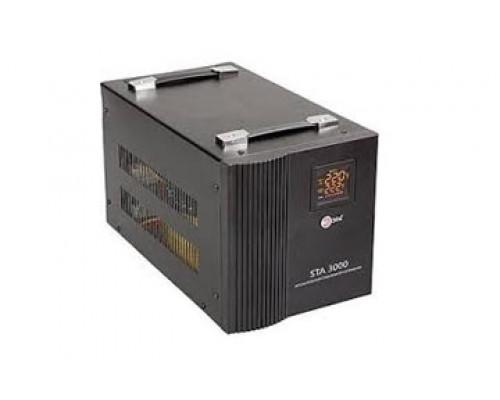 Стабилизатор ЭРА, STA-3000, AVR 2000VА, Индикация режимов работы, Диапазон:170-277VAC, 4 в