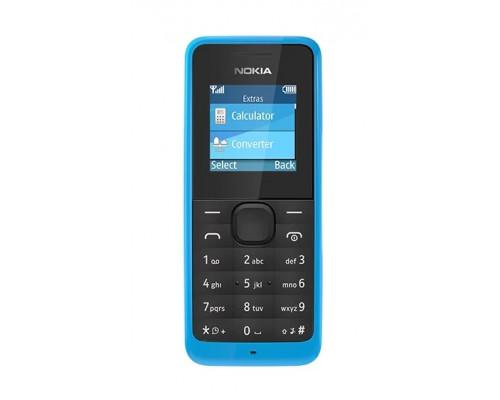 Сотовый телефон Nokia 105 1.4 TFT,  1 SIM, 8Mb пямять, FM-радио, 800 мАч Blue
