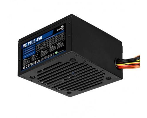 Блок питания AeroCool, VX450 PLUS, 450 W, 1 Fan (120 мм), 20+4 pin, PCI-E x 1, SATA x 2, IDE x 2