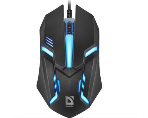 Мышь Defender, HIT MB-550, 1200 dpi, USB, Оптическая, Черный